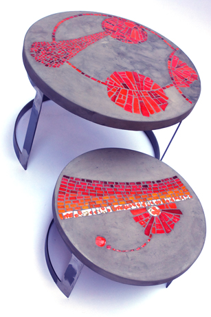 Vanina mercury mosaique beton marseille tables basse de jardin 2 ateliers de marseille - Table jardin beton marseille ...